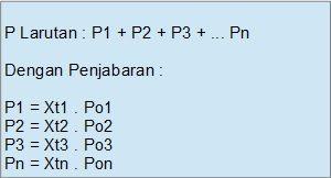 total tekanan uap larutan